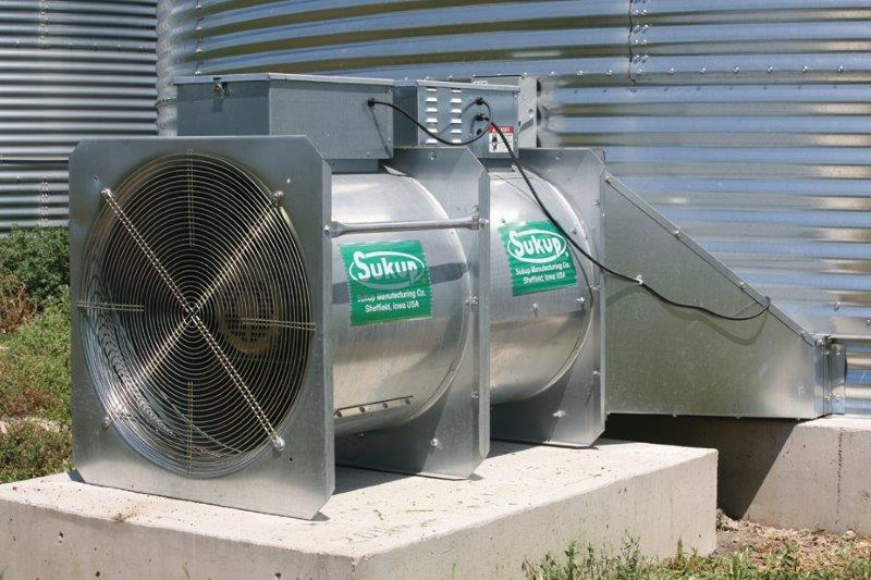 Axial Fan and Heater on Bin